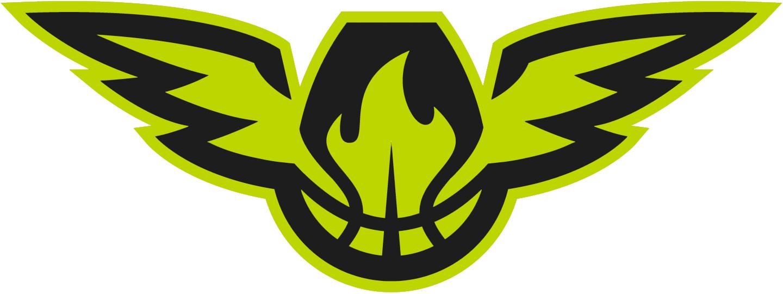 Atlanta Hawks Logo Alternate Logo (2015/16-2019/20) - Worn on black waistband of Hawks' red shorts SportsLogos.Net