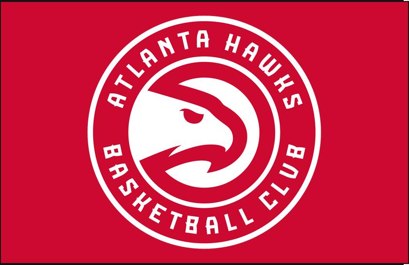 Atlanta Hawks Logo Primary Dark Logo (2015/16-2019/20) - Primary on Red SportsLogos.Net