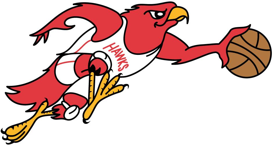 Atlanta Hawks Logo Primary Logo (1969/70) - A Hawk dribbling a basketball SportsLogos.Net