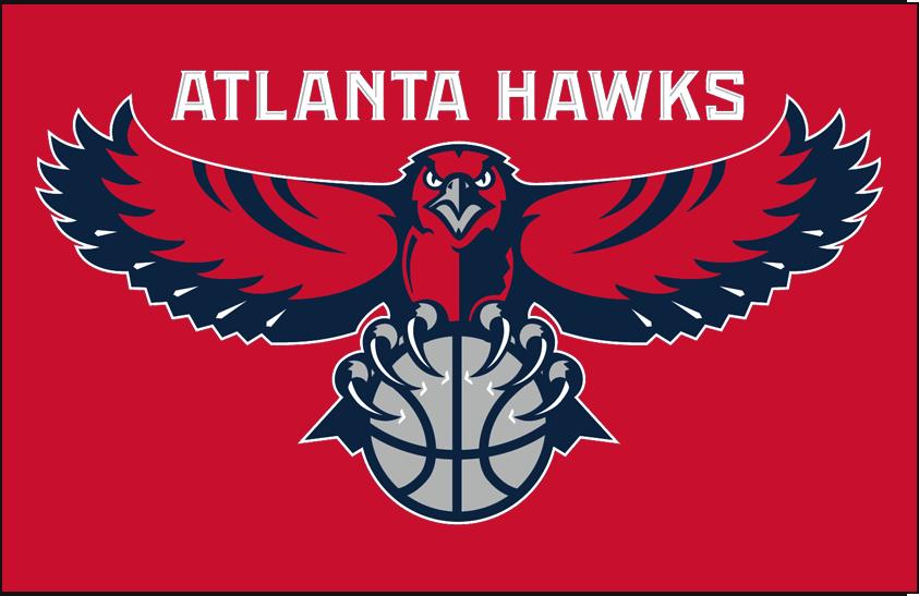 Atlanta Hawks Logo Primary Dark Logo (2007/08-2014/15) - Primary on red SportsLogos.Net