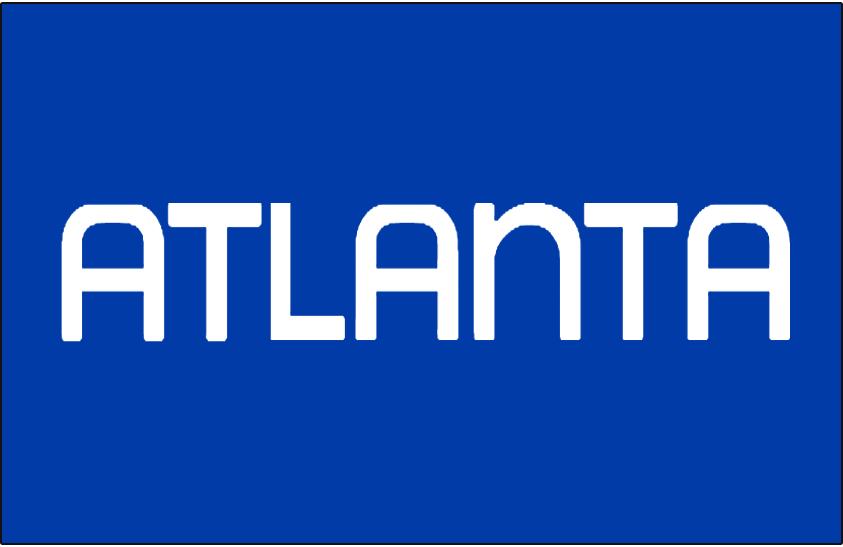 Atlanta Hawks Logo Jersey Logo (1970/71-1971/72) - Atlanta in white on blue, worn on Atlanta Hawks road jersey SportsLogos.Net