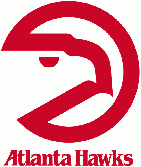 Atlanta Hawks Logo Primary Logo (1972/73-1994/95) - A red circle with a hawks head SportsLogos.Net