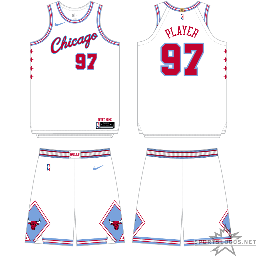 Chicago Bulls Uniform Alternate Uniform (2017/18) - The inaugural Chicago Bulls