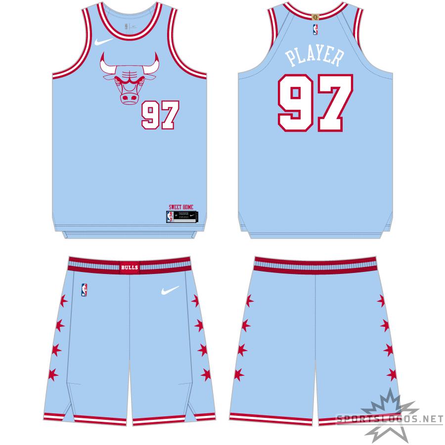 Chicago Bulls Uniform Alternate Uniform (2019/20) - Continuing the theme of honouring the Chicago City flag, the Chicago Bulls