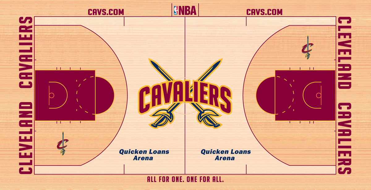 Cleveland Cavaliers Playing Surface Playing Surface (2010/11-2011/12) -  SportsLogos.Net