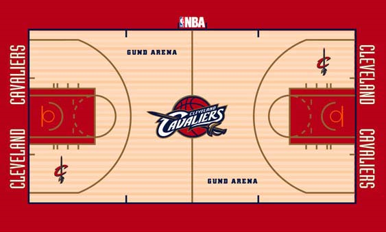 Cleveland Cavaliers Playing Surface Playing Surface (2003/04-2004/05) -  SportsLogos.Net