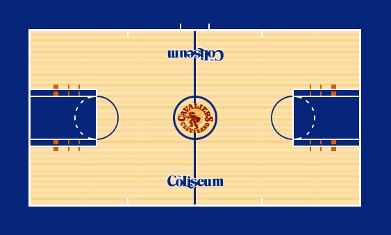 Cleveland Cavaliers Playing Surface Playing Surface (1973/74-1982/83) -  SportsLogos.Net