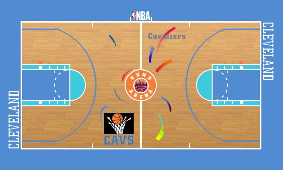 Cleveland Cavaliers Playing Surface Playing Surface (1994/95-1995/96) -  SportsLogos.Net