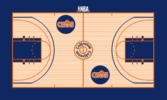 Cleveland Cavaliers Playing Surface Playing Surface (1983/84-1995/96) -  SportsLogos.Net