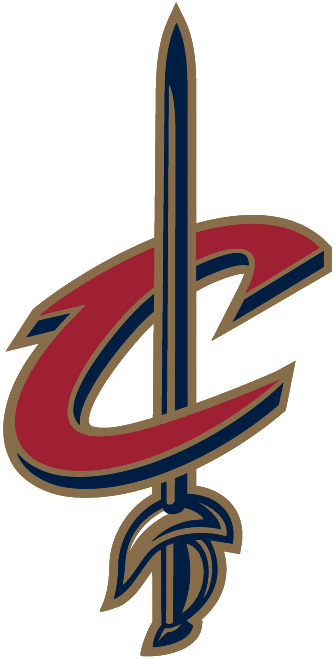 Cleveland Cavaliers Logo Alternate Logo (2003/04-2009/10) - A red C with a gold sword through it SportsLogos.Net