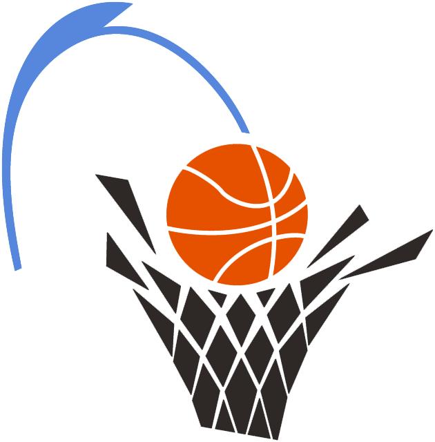 Cleveland Cavaliers Logo Alternate Logo (1994/95-2002/03) - Basketball going through a black net SportsLogos.Net