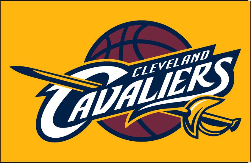 Cleveland Cavaliers Logo Primary Dark Logo (2010/11-2016/17) - Primary on Yellow SportsLogos.Net