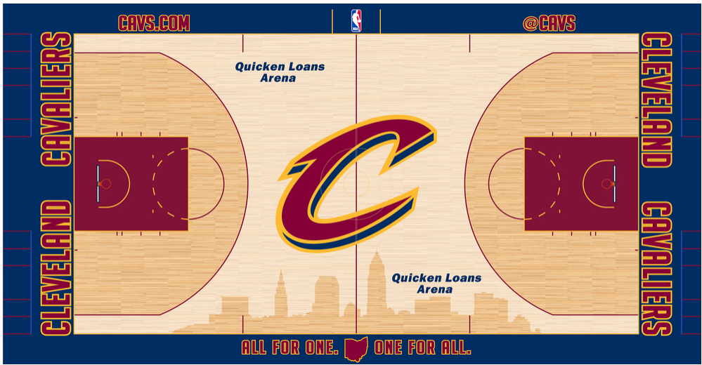 Cleveland Cavaliers Playing Surface Playing Surface (2014/15-2016/17) -  SportsLogos.Net