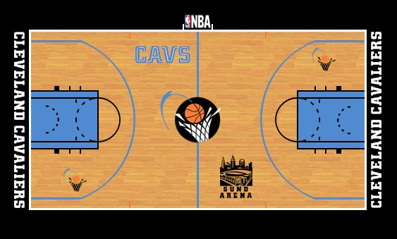 Cleveland Cavaliers Playing Surface Playing Surface (1996/97-2002/03) -  SportsLogos.Net