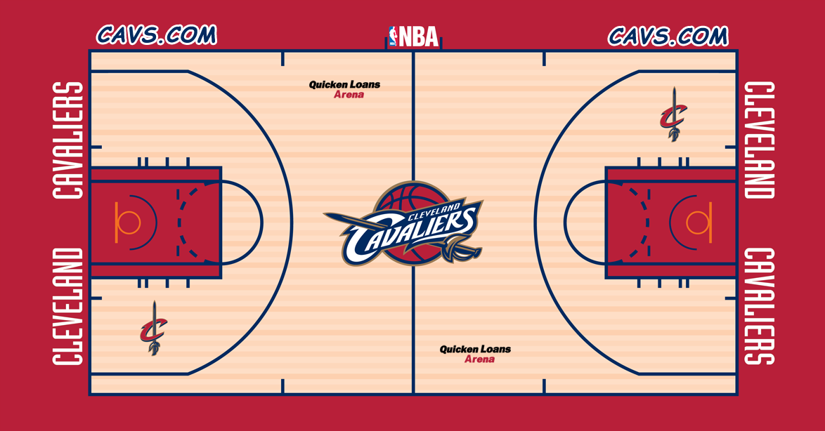 Cleveland Cavaliers Playing Surface Playing Surface (2005/06) -  SportsLogos.Net