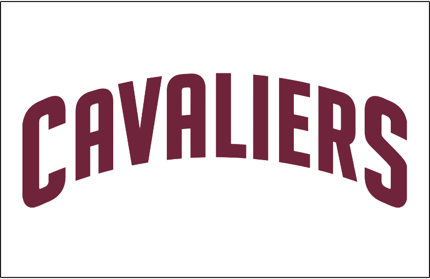 Cleveland Cavaliers Logo Jersey Logo (2010/11-2016/17) - CAVALIERS arched in wine, worn on Cleveland Cavaliers home jersey SportsLogos.Net