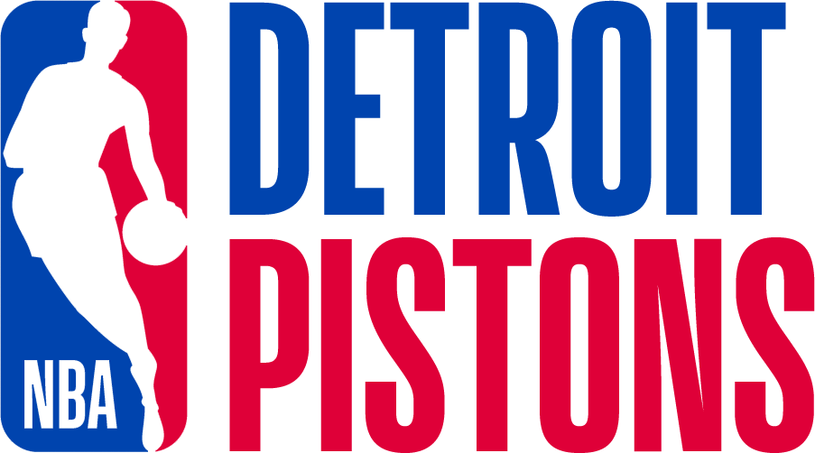 Detroit Pistons Logo Misc Logo (2017/18) - Note: This is not a legitimate team logo, it was originally created by this site for an April Fool's Day joke using the NBA's standardized logo system in 2018 SportsLogos.Net