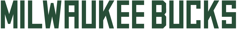 Milwaukee Bucks Logo Wordmark Logo (2015/16-Pres) - MILWAUKEE BUCKS in a custom varsity block styled font SportsLogos.Net