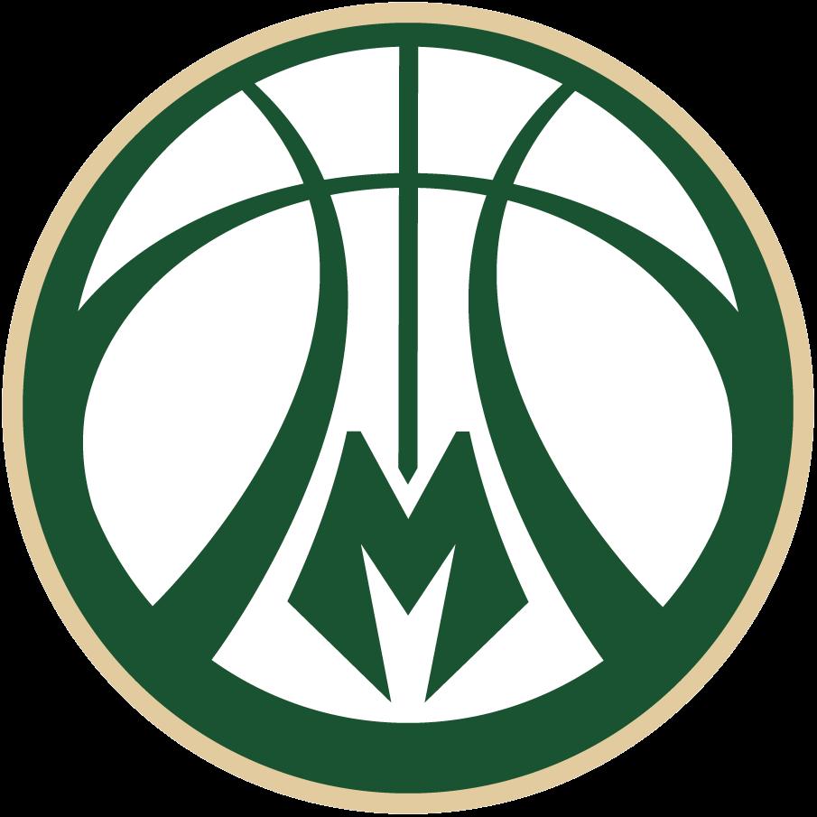 Milwaukee Bucks Logo Alternate Logo (2015/16-Pres) - Green and cream basketball with deer antler design in the seams, M at bottom SportsLogos.Net