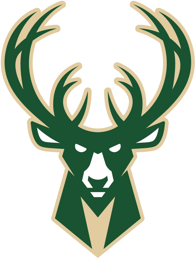 Milwaukee Bucks Logo Alternate Logo (2015/16-Pres) - Green and cream buck deer head with stylized M in the neck SportsLogos.Net
