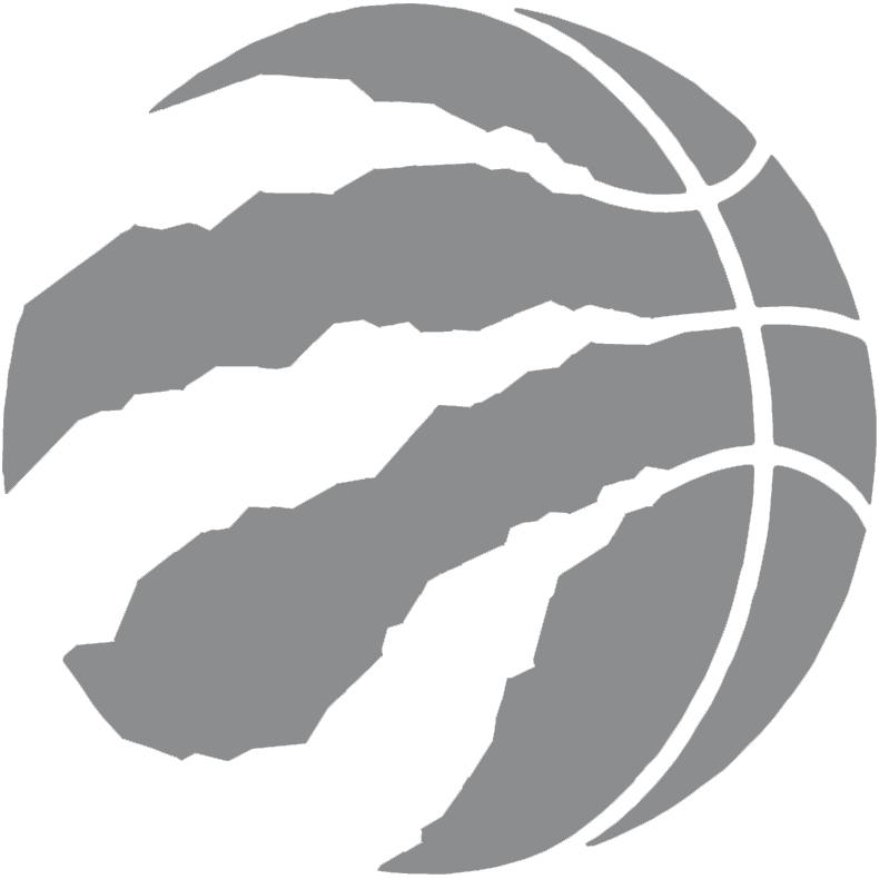 Toronto Raptors Logo Alternate Logo (2015/16-2019/20) - A silver basketball with claw marks SportsLogos.Net