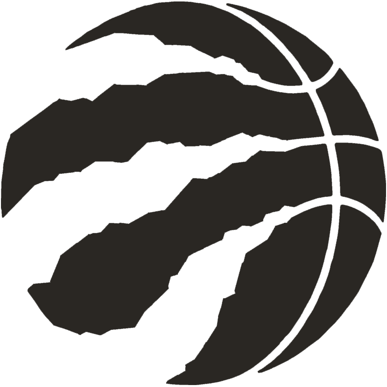 Toronto Raptors Logo Alternate Logo (2015/16) - A black basketball with claw marks SportsLogos.Net