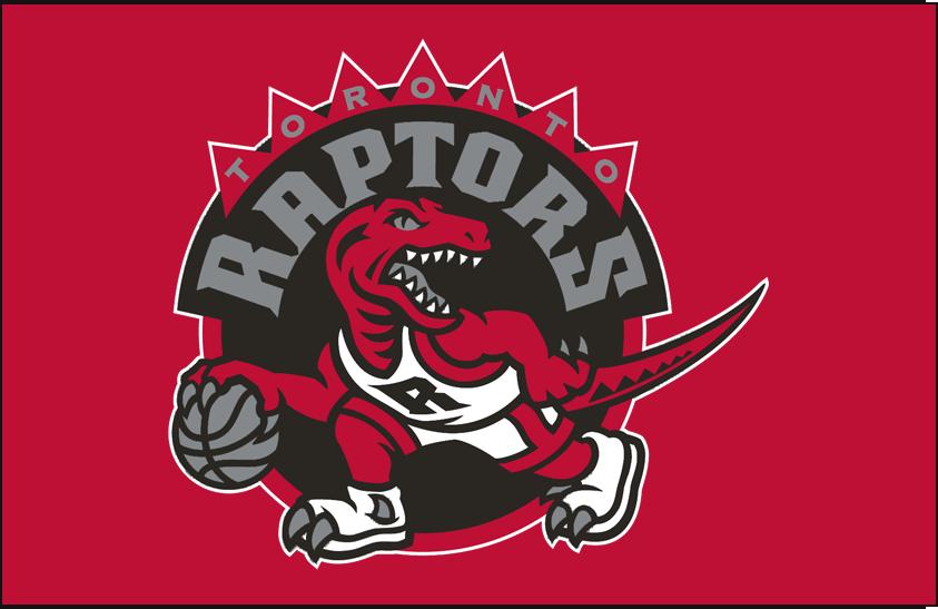 Toronto Raptors Logo Primary Dark Logo (2008/09-2014/15) - Primary Logo on Red SportsLogos.Net