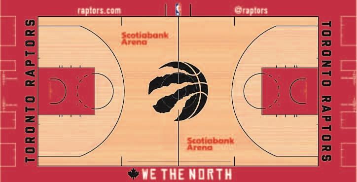Toronto Raptors Playing Surface Playing Surface (2018/19-Pres) - Toronto Raptors court design Scotiabank Arena 2018-2019 season SportsLogos.Net