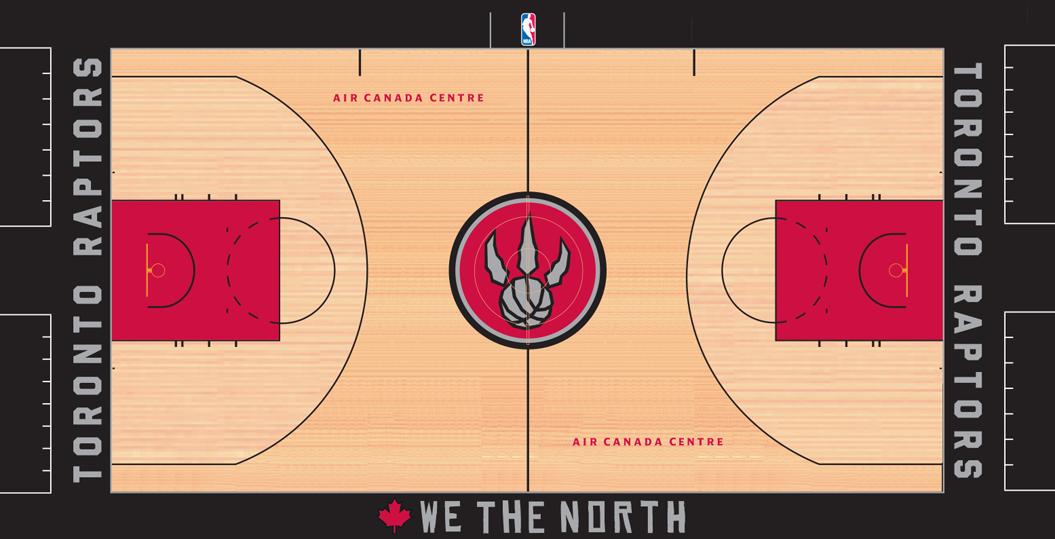 Toronto Raptors Playing Surface Playing Surface (2014/15) -  SportsLogos.Net