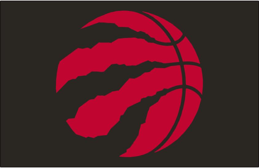 Toronto Raptors Logo Alt on Dark Logo (2015/16-Pres) - Red basketball claw on black SportsLogos.Net