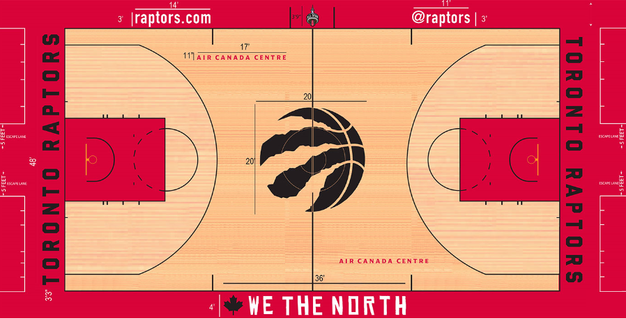 Toronto Raptors Playing Surface Playing Surface (2015/16-2017/18) -  SportsLogos.Net
