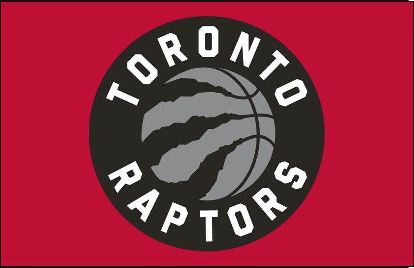 Toronto Raptors Logo Primary Dark Logo (2015/16-2019/20) - Primary on Red SportsLogos.Net