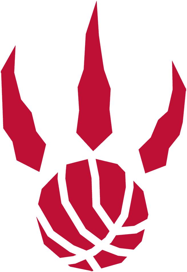 Toronto Raptors Logo Alternate Logo (1995/96-2010/11) - A red raptor paw print with basketball seams SportsLogos.Net