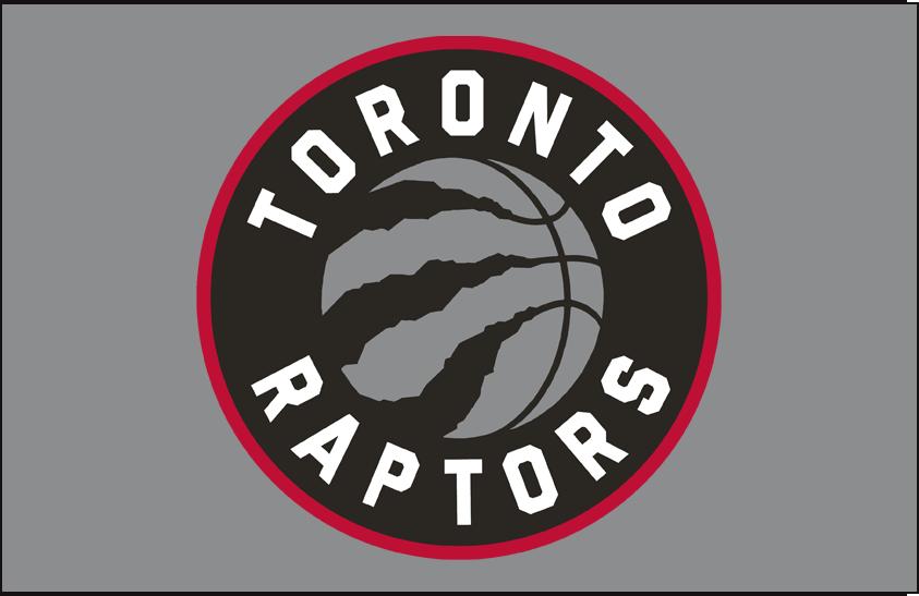 Toronto Raptors Logo Primary Dark Logo (2015/16-2019/20) - Primary on Silver SportsLogos.Net