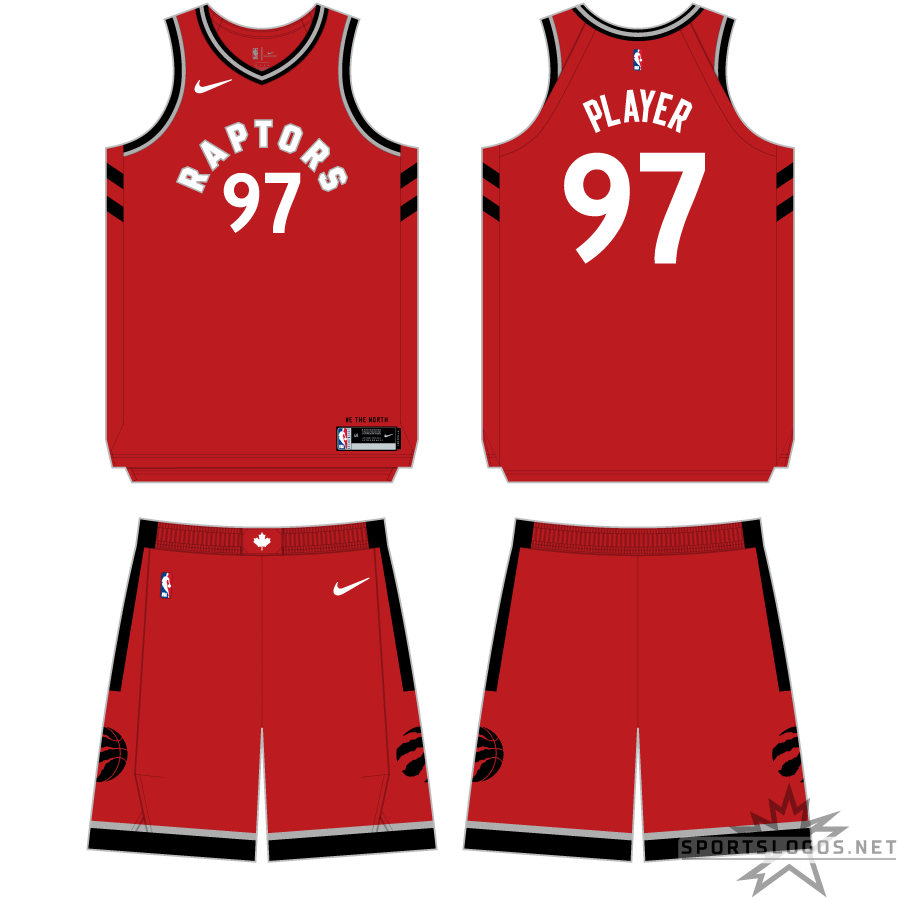 Toronto Raptors Uniform Primary Dark Uniform (2017/18-2019/20) - http://www.nba.com/raptors/uniforms/away SportsLogos.Net