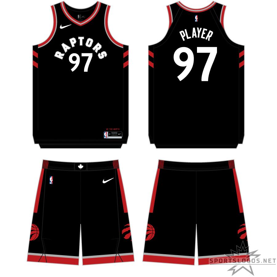 Toronto Raptors Uniform Alternate Uniform (2017/18-2019/20) - http://www.nba.com/raptors/uniforms/away-alternate1 SportsLogos.Net