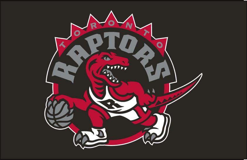 Toronto Raptors Logo Primary Dark Logo (2008/09-2014/15) - Primary Logo on Black SportsLogos.Net