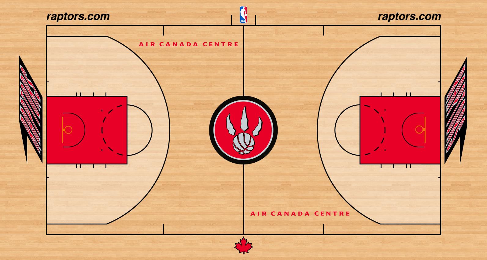 Toronto Raptors Playing Surface Playing Surface (2012/13-2013/14) - Toronto Raptors home court surface - Air Canada Centre SportsLogos.Net