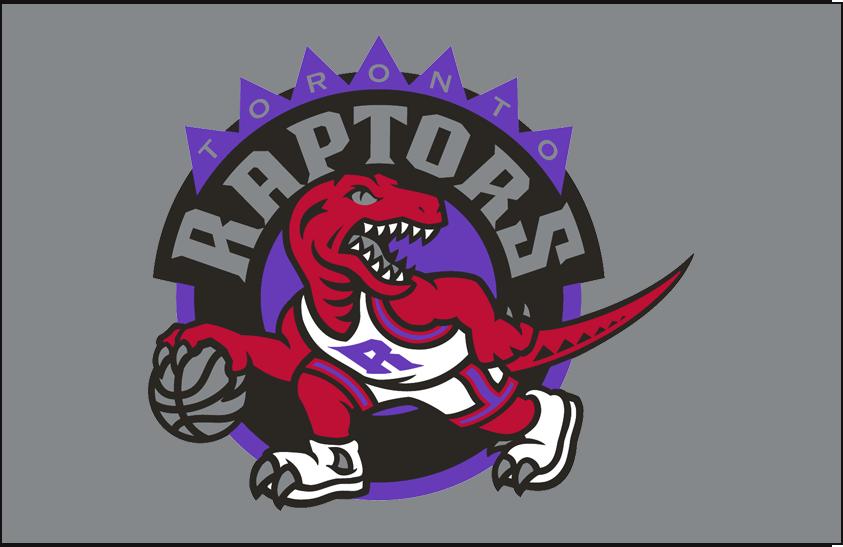 Toronto Raptors Logo Primary Dark Logo (1995/96-2007/08) - Primary Logo on Silver SportsLogos.Net