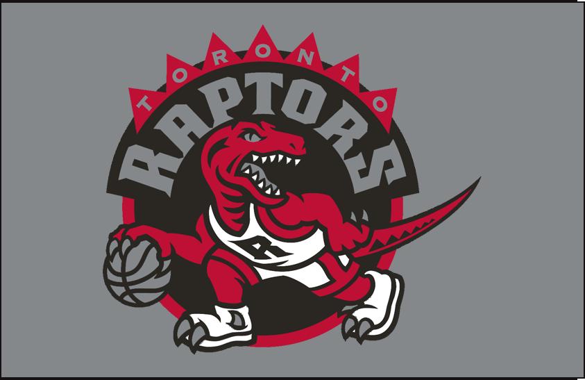 Toronto Raptors Logo Primary Dark Logo (2008/09-2014/15) - Primary Logo on Silver SportsLogos.Net