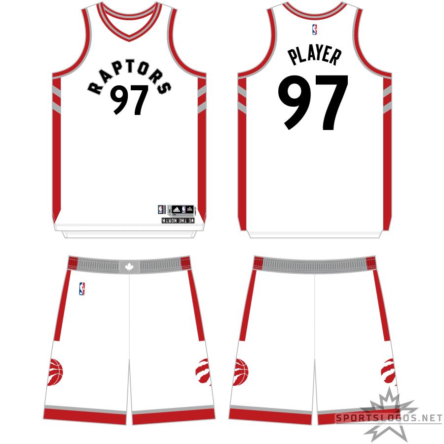 Toronto Raptors Uniform Primary White Uniform (2015/16-2016/17) -  SportsLogos.Net