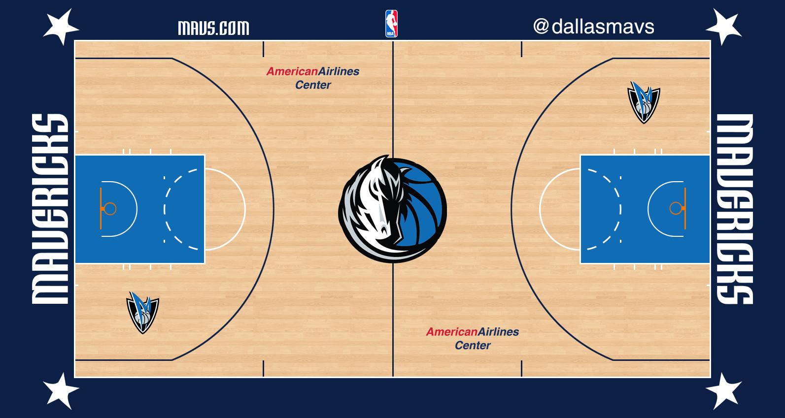 Dallas Mavericks Logo Stadium Logo (2012/13-Pres) - Dallas Mavericks home court surface - American Ailines Center SportsLogos.Net