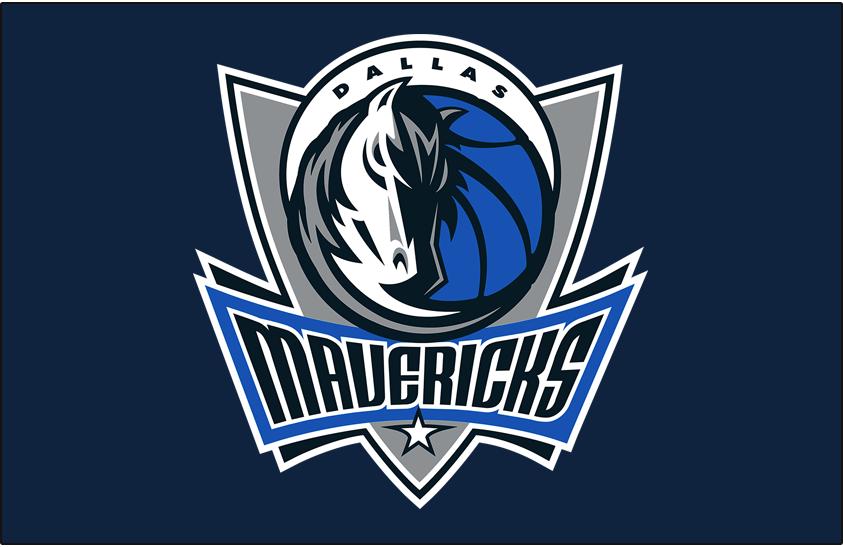 Dallas Mavericks Logo Primary Dark Logo (2017/18-Pres) - Primary Mavs logo on Dark Blue SportsLogos.Net