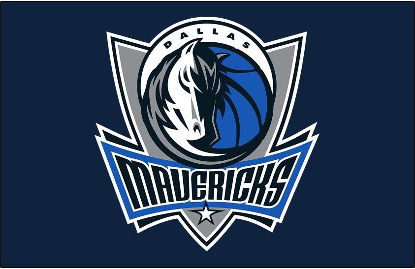 Dallas Mavericks Logo Primary Dark Logo (2007/08-2016/17) - Primary Mavs logo on Dark Blue SportsLogos.Net