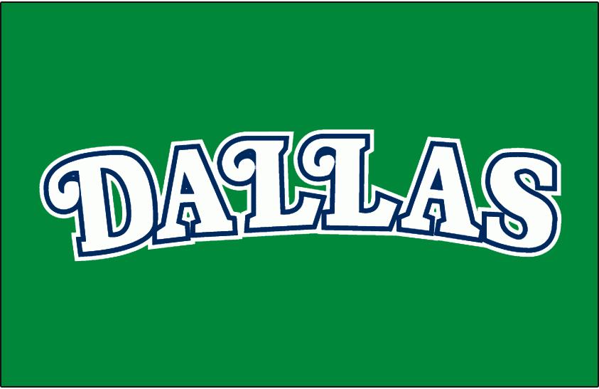 Dallas Mavericks Logo Jersey Logo (1980/81-1991/92) - Worn on Dallas Mavericks road green jersey from 1980-81 until 1991-92 SportsLogos.Net