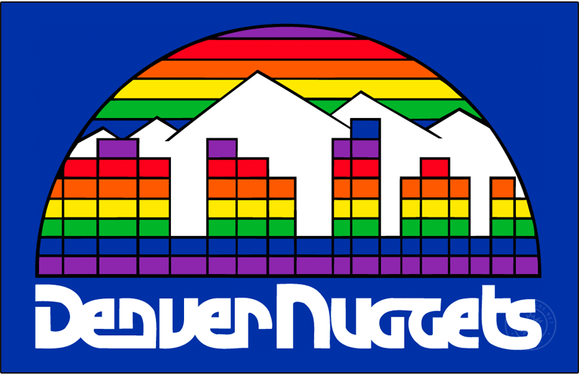 Denver Nuggets Logo Primary Dark Logo (1982/83-1992/93) -  SportsLogos.Net
