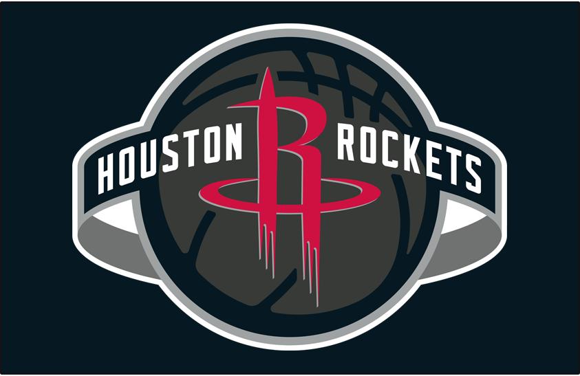 Houston Rockets Logo Primary Dark Logo (2019/20-Pres) - Houston Rockets global logo on black SportsLogos.Net