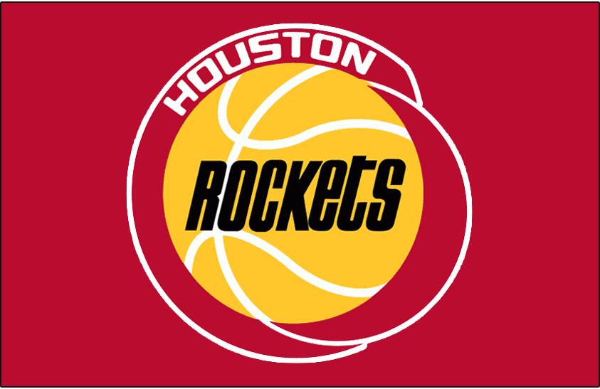 Houston Rockets Logo Primary Dark Logo (1972/73-1994/95) - Houston Rockets logo on red SportsLogos.Net