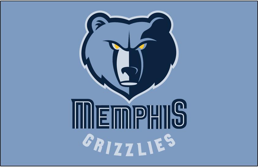 Memphis Grizzlies Logo Primary Dark Logo (2004/05-2017/18) - Memphis Grizzlies primary logo on Beale Street blue SportsLogos.Net