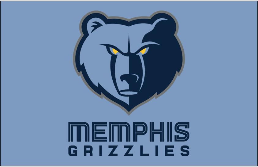 Memphis Grizzlies Logo Primary Dark Logo (2018/19-Pres) - Primary on Beale Street Blue SportsLogos.Net